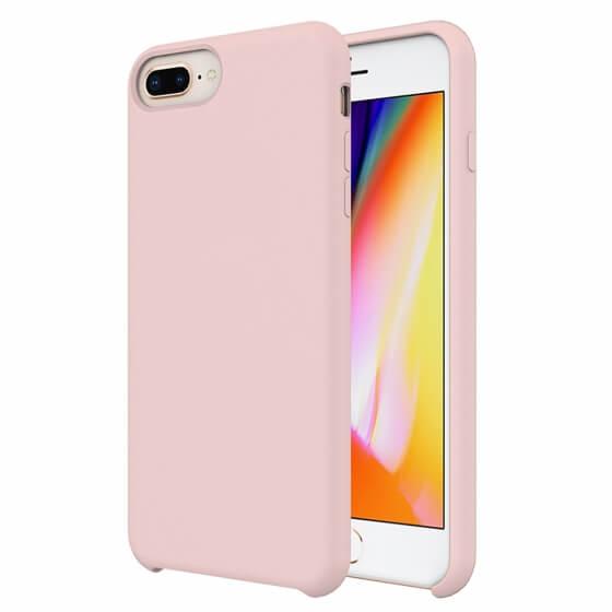 Buff iPhone 8 Plus / 7 Plus Rubber Fit Kılıf Pink Sand