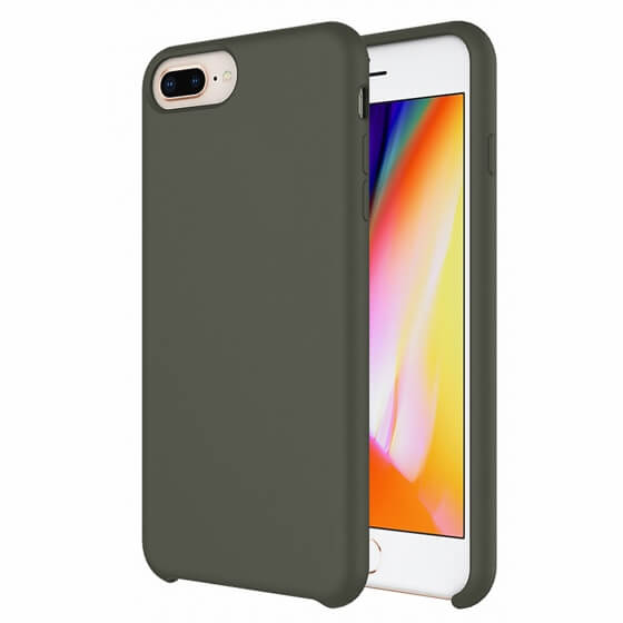 Buff iPhone 8 Plus / 7 Plus Rubber Fit Kılıf Dark Olive