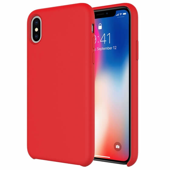 Buff iPhone Xs/X Rubber Fit Kılıf Red