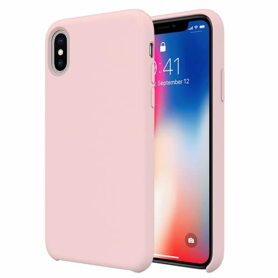 Buff iPhone Xs/X Rubber Fit Kılıf Pink Sand