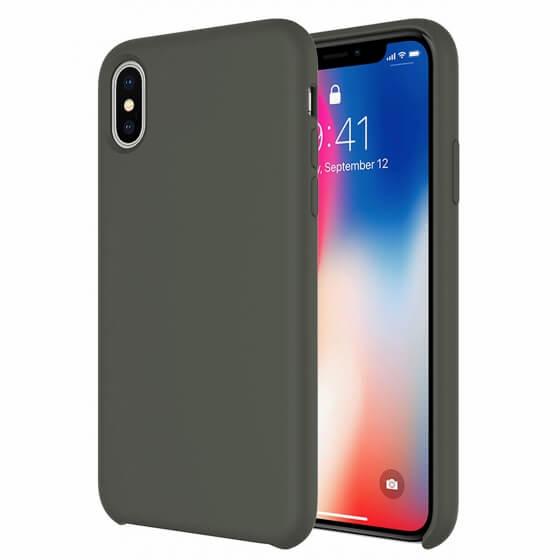 Buff iPhone Xs/X Rubber Fit Kılıf Dark Olive