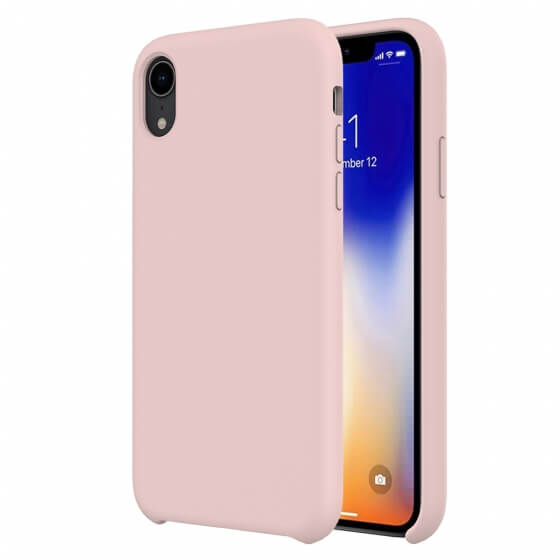 Buff iPhone XR Rubber Fit Kılıf Pink Sand