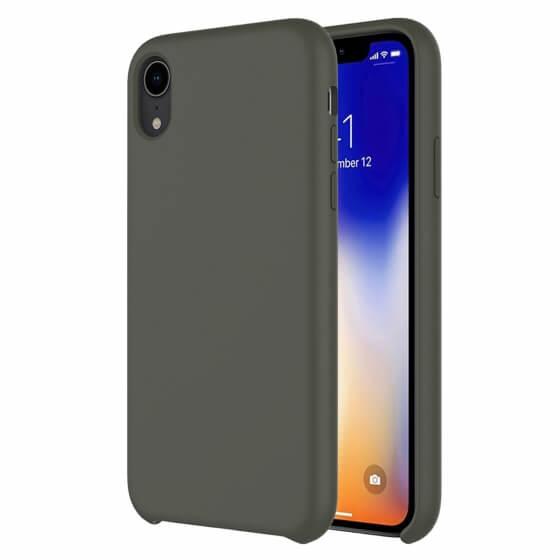 Buff iPhone XR Rubber Fit Kılıf Dark Olive