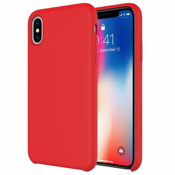 Buff iPhone Xs Max Rubber Fit Kılıf Red