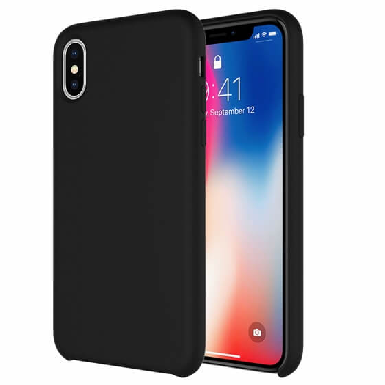 Buff iPhone Xs Max Rubber Fit Kılıf Black