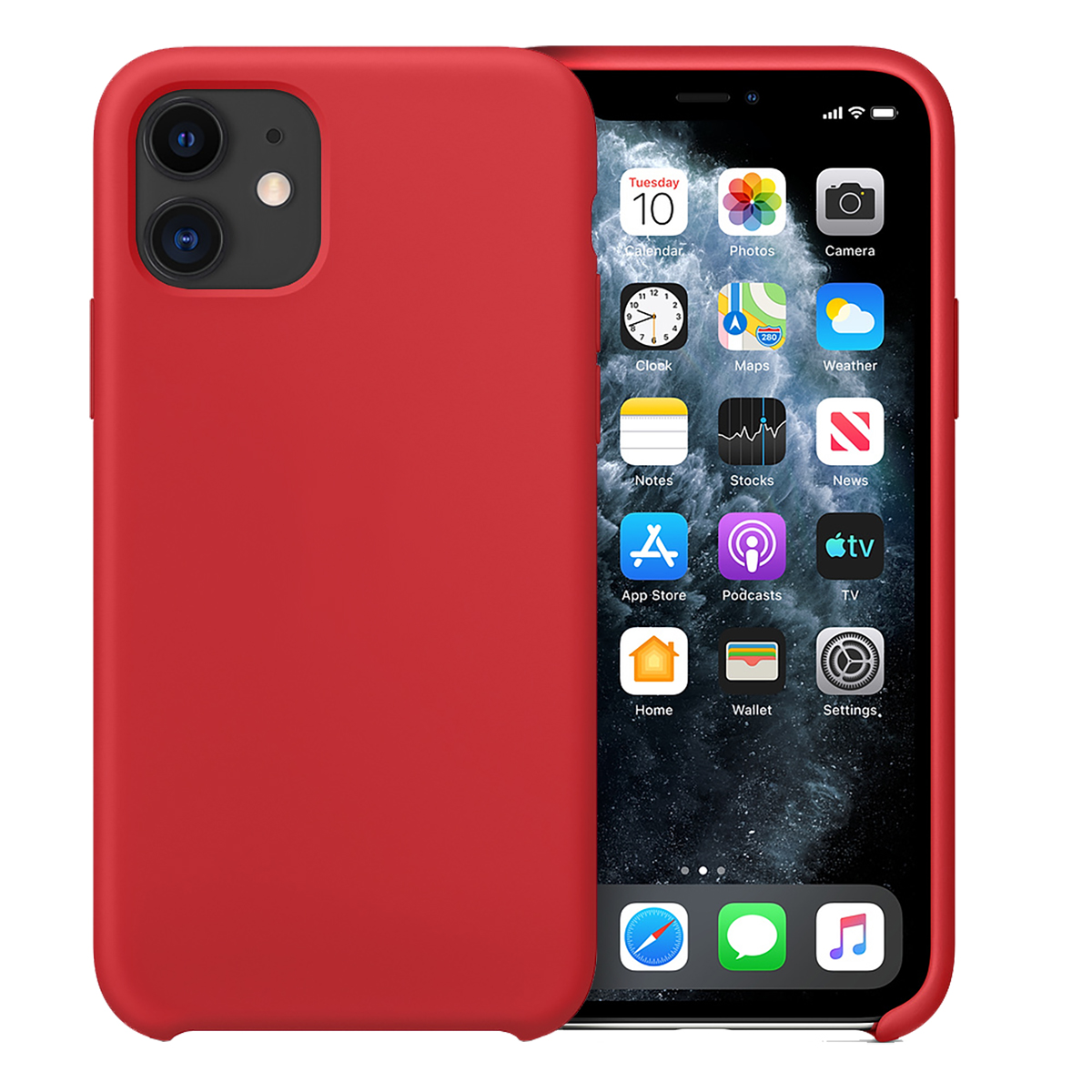 Buff iPhone 11 Rubber Fit Kılıf Red