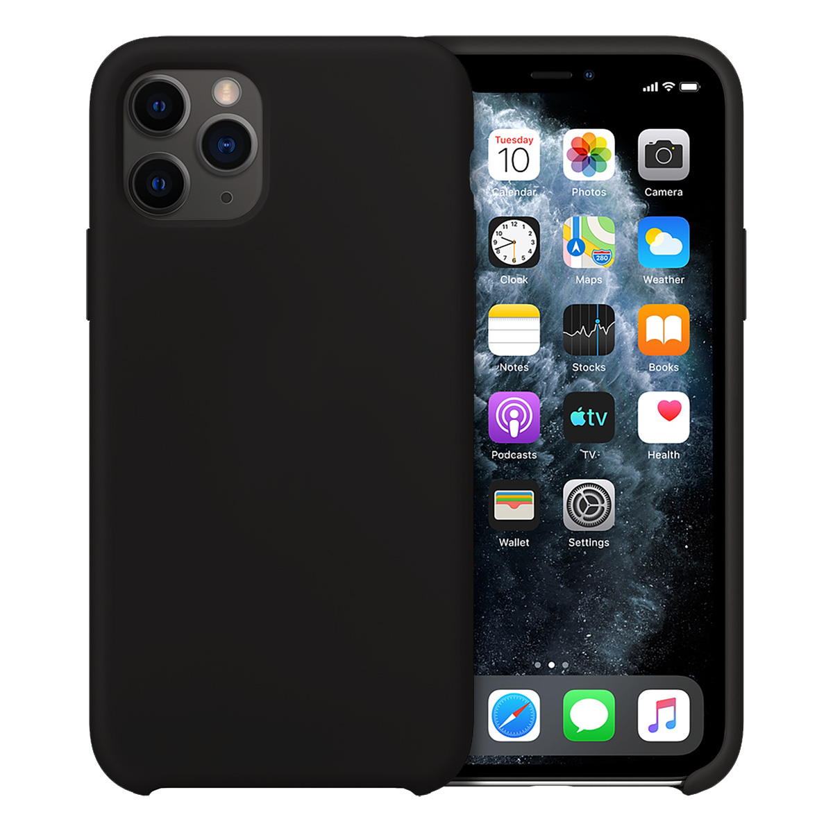 Buff iPhone 11 Pro Rubber Fit Kılıf Black