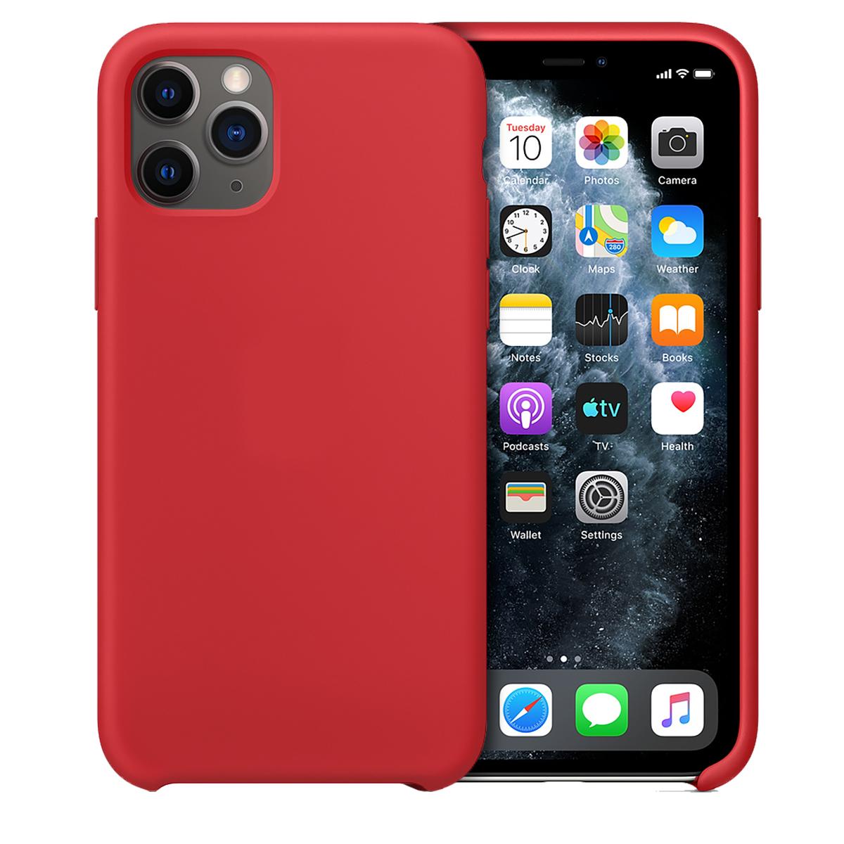 Buff iPhone 11 Pro Max Rubber Fit Kılıf Red