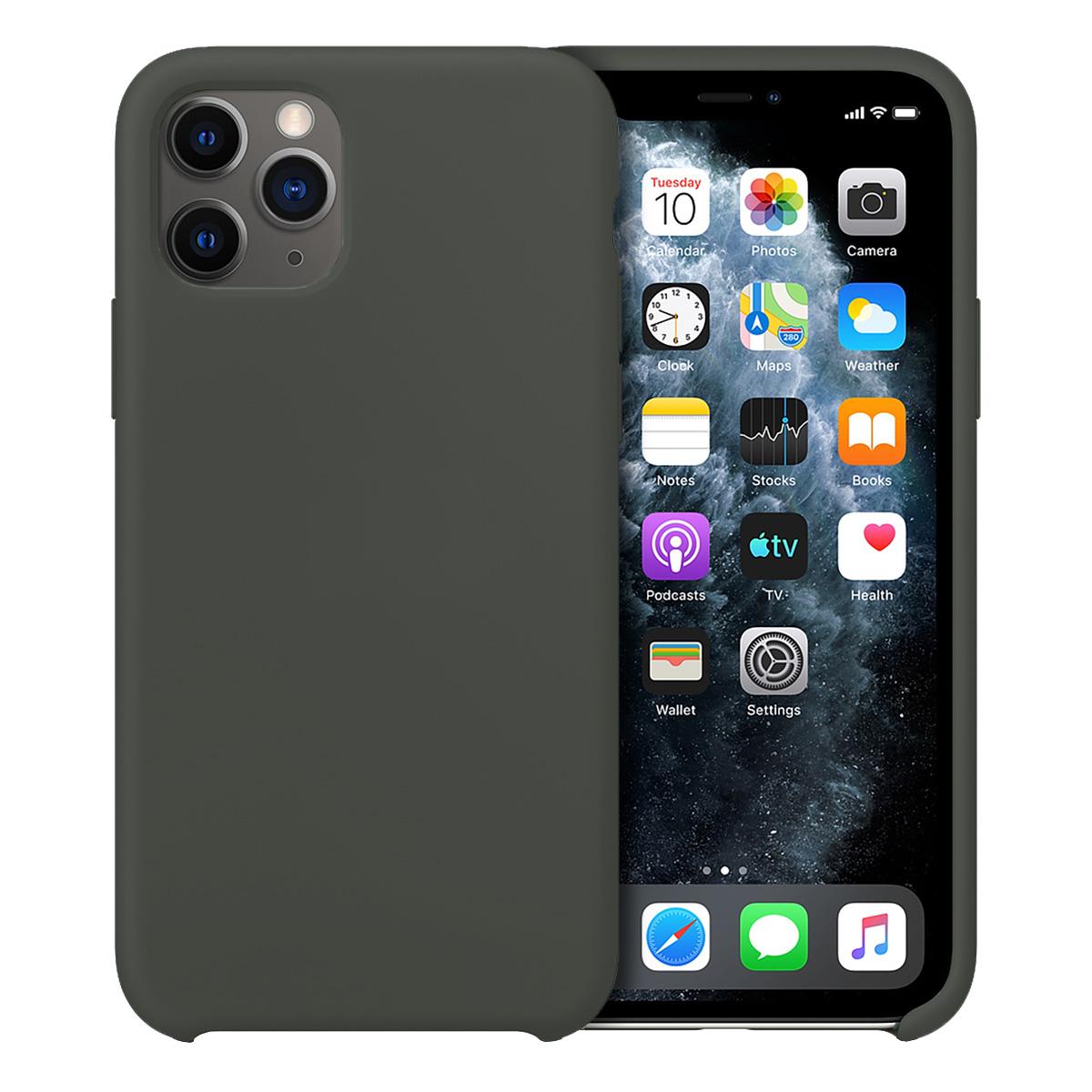 Buff iPhone 11 Pro Max Rubber Fit Kılıf Dark Olive