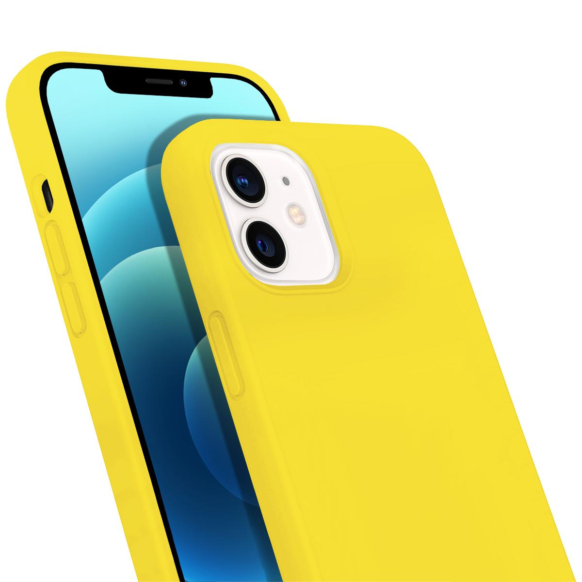 Buff iPhone 12 Mini Rubber S Kılıf Yellow
