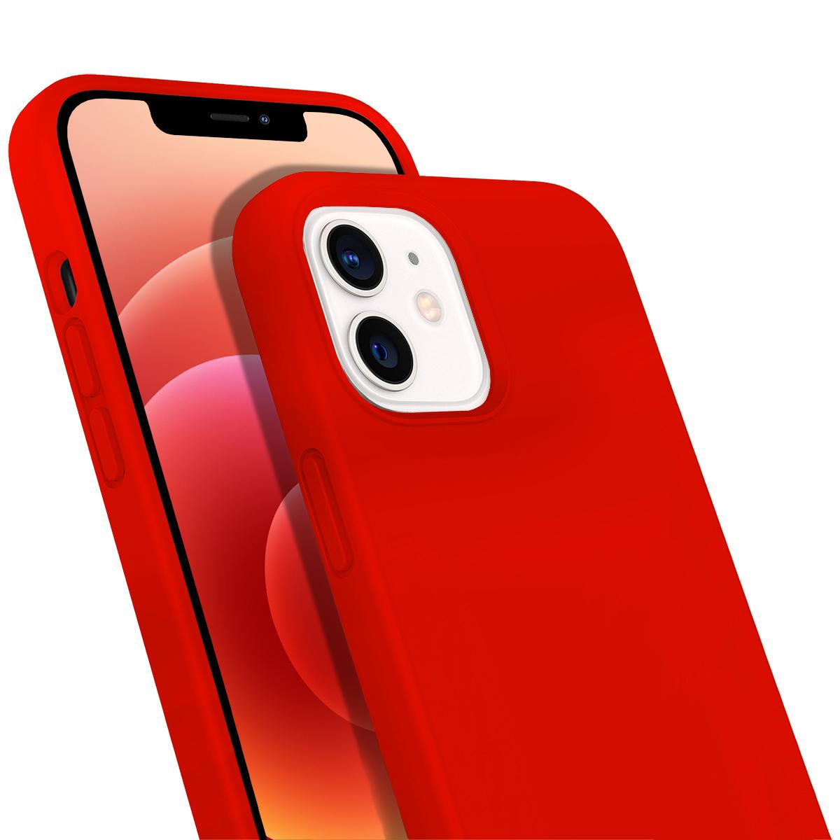 Buff iPhone 12 / 12 Pro Rubber S Kılıf Neon Orange