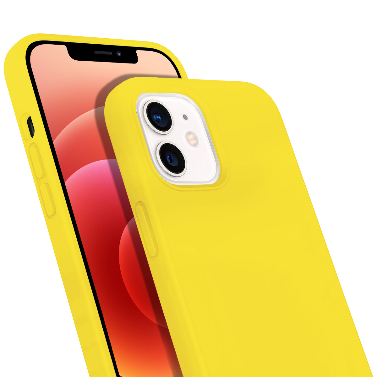 Buff iPhone 12 / 12 Pro Rubber S Kılıf Yellow