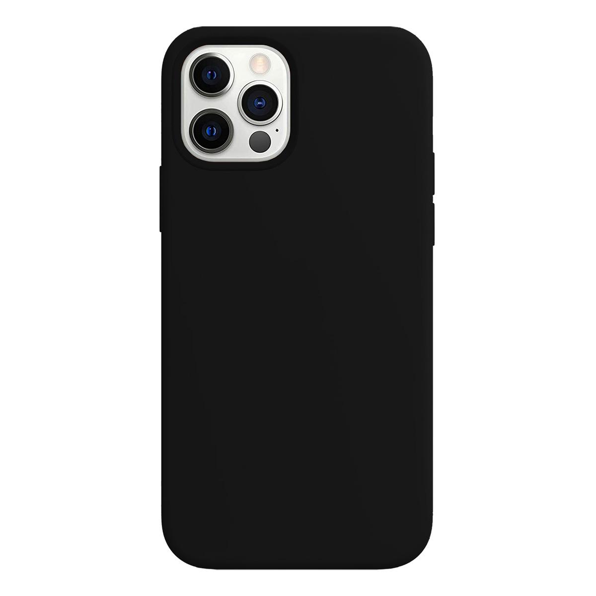 Buff iPhone 12 Pro Max Rubber S Kılıf Black