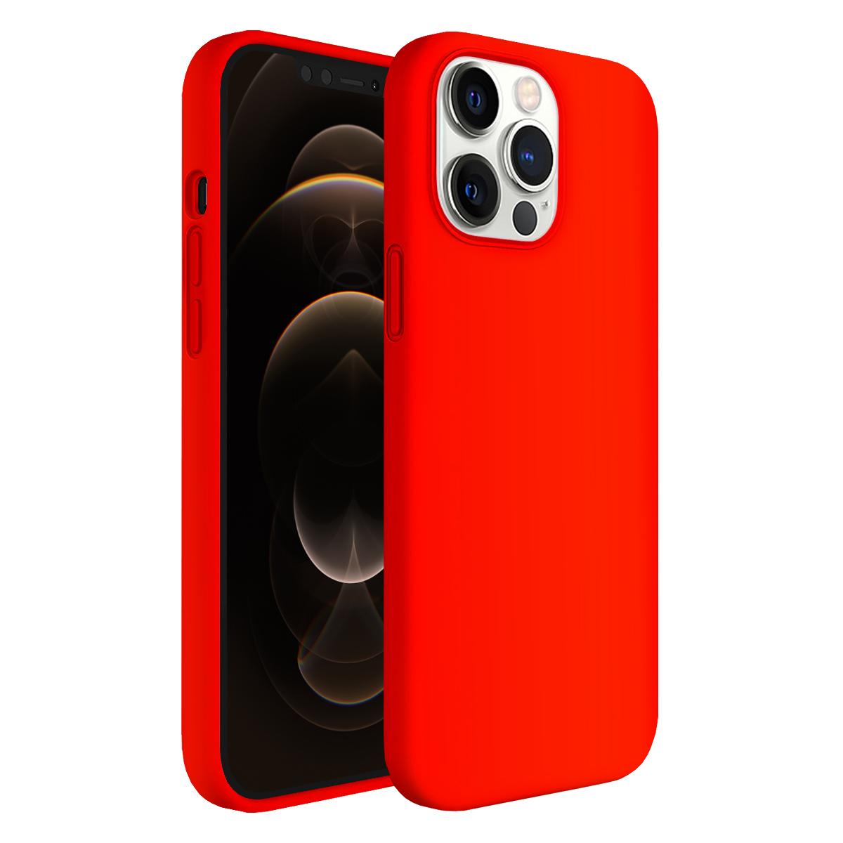 Buff iPhone 12 Pro Max Rubber S Kılıf Neon Orange