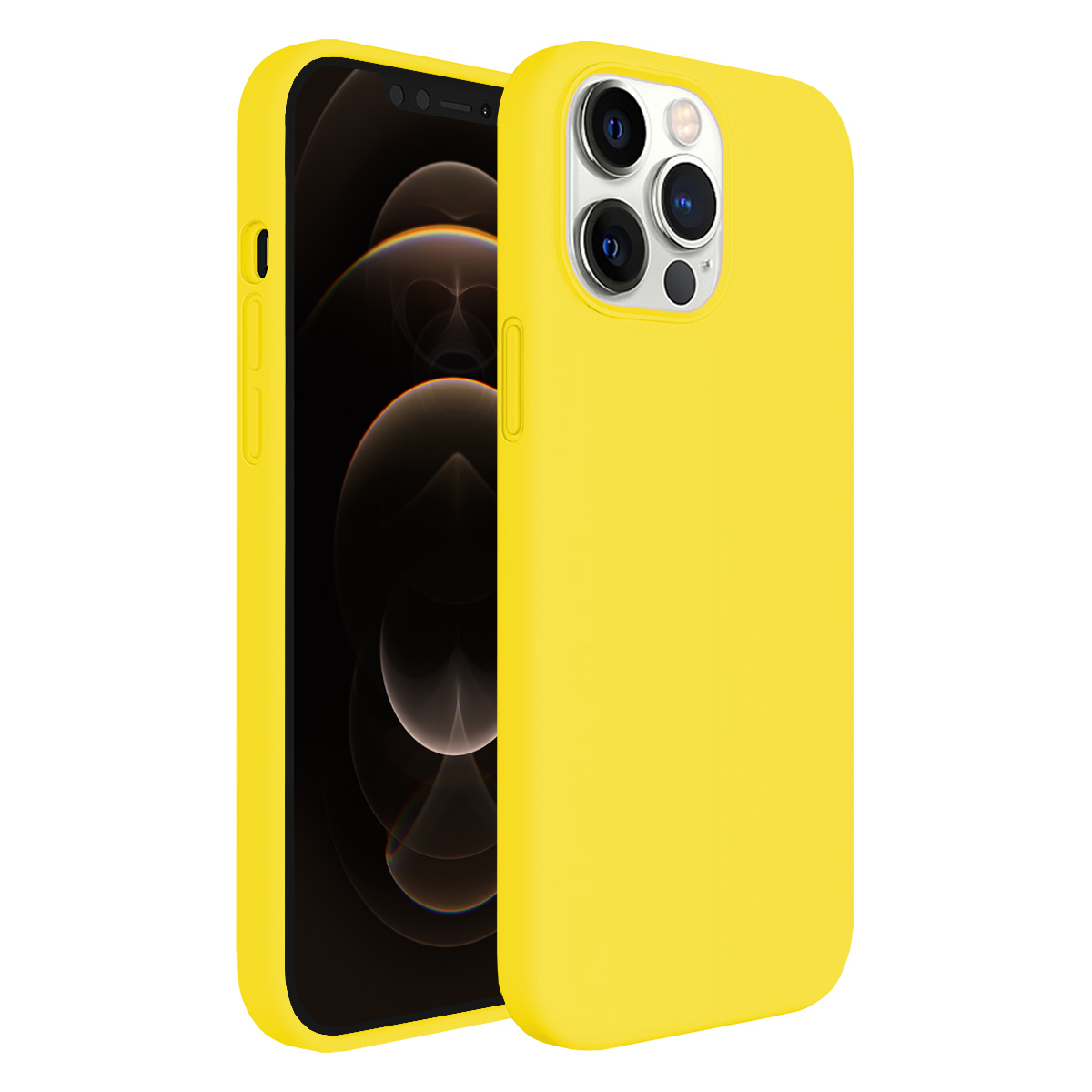 Buff iPhone 12 Pro Max Rubber S Kılıf Yellow