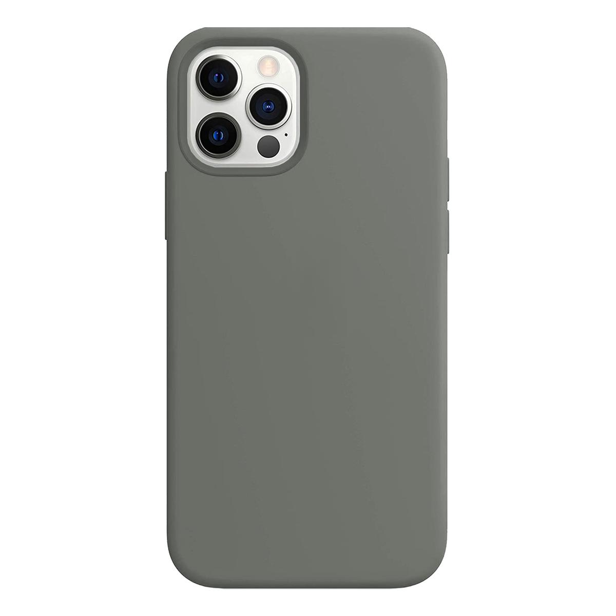 Buff iPhone 12 Pro Max Rubber S Kılıf Gray