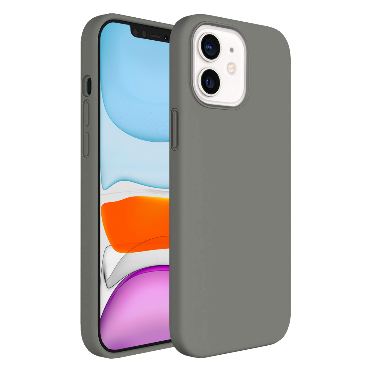 Buff iPhone 11 Rubber S Kılıf Gray