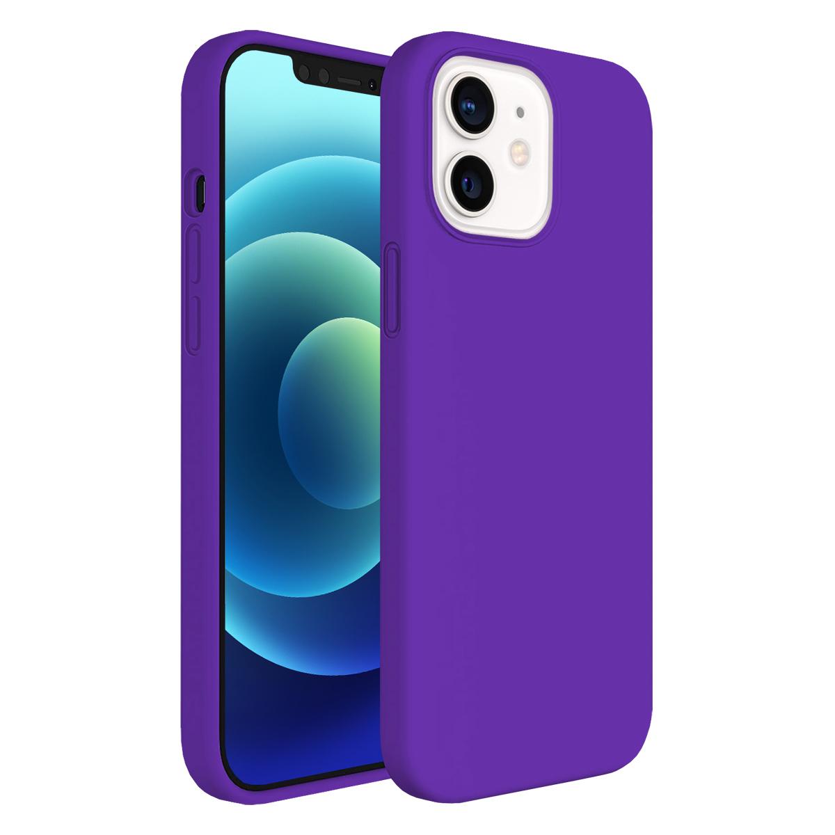 Buff iPhone 12 Mini Rubber S Kılıf Purple