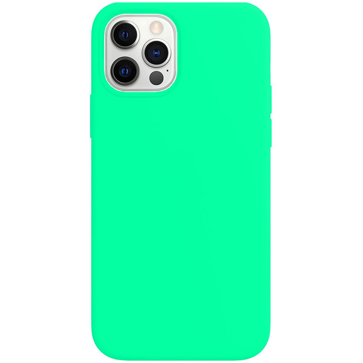Buff iPhone 12 Pro Max Rubber S Kılıf Mint