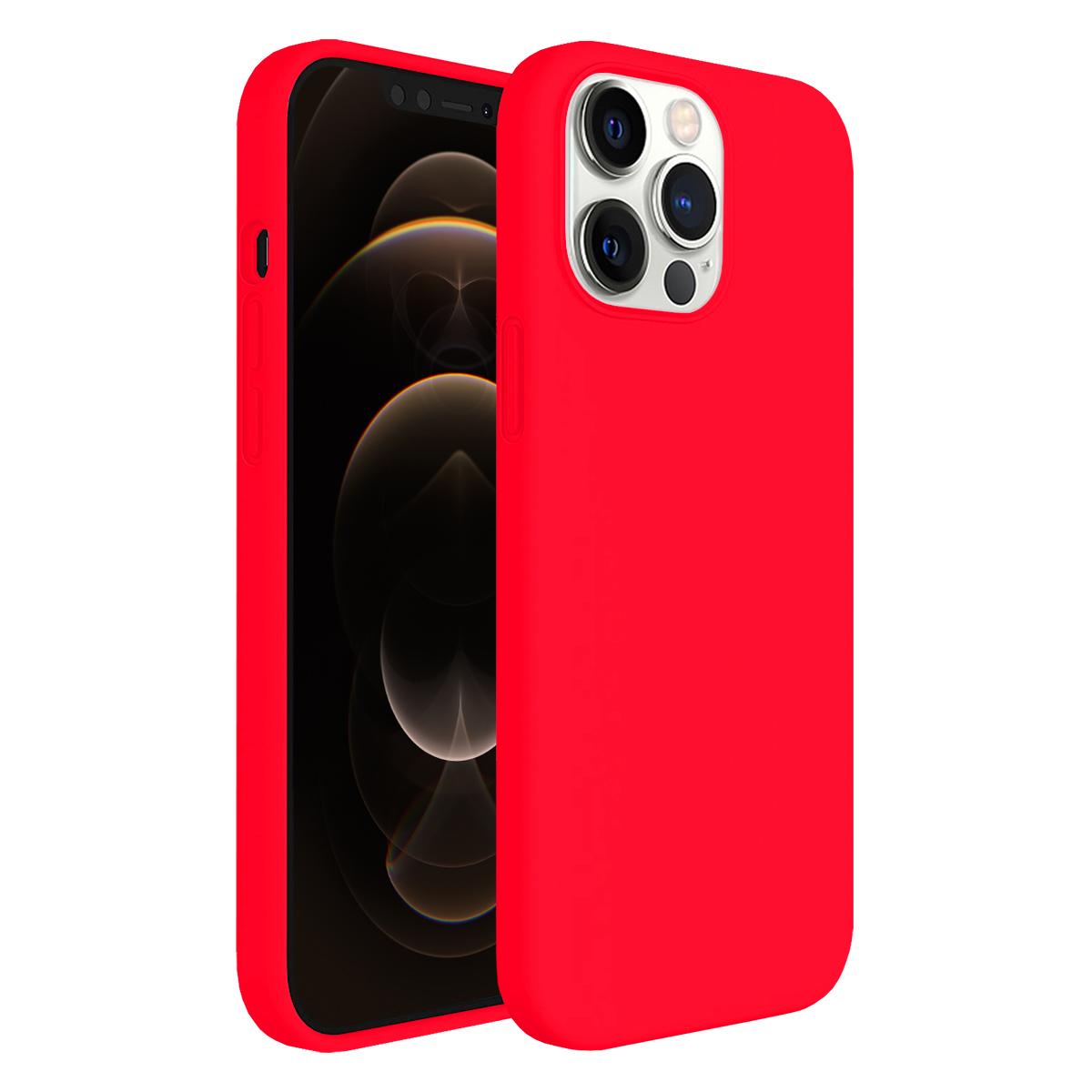 Buff iPhone 12 Pro Max Rubber S Kılıf Neon Pink