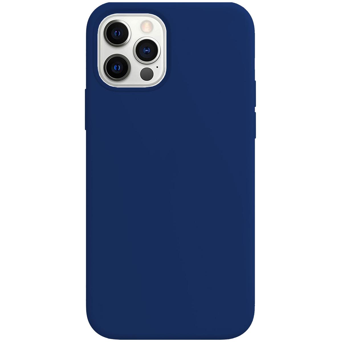 Buff iPhone 12 Pro Max Rubber S Kılıf Navy Blue