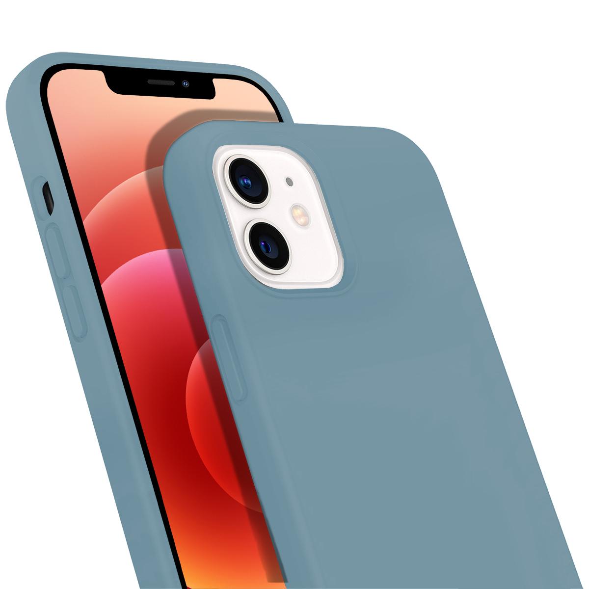 Buff iPhone 12 / 12 Pro Rubber S Kılıf Ice Blue