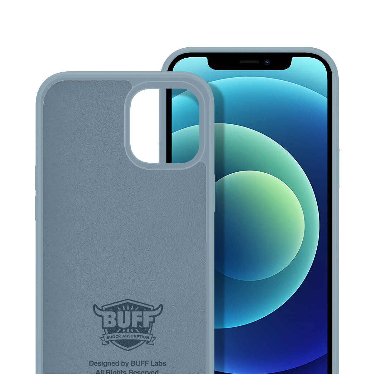 Buff iPhone 12 Mini Rubber S Kılıf Ice Blue