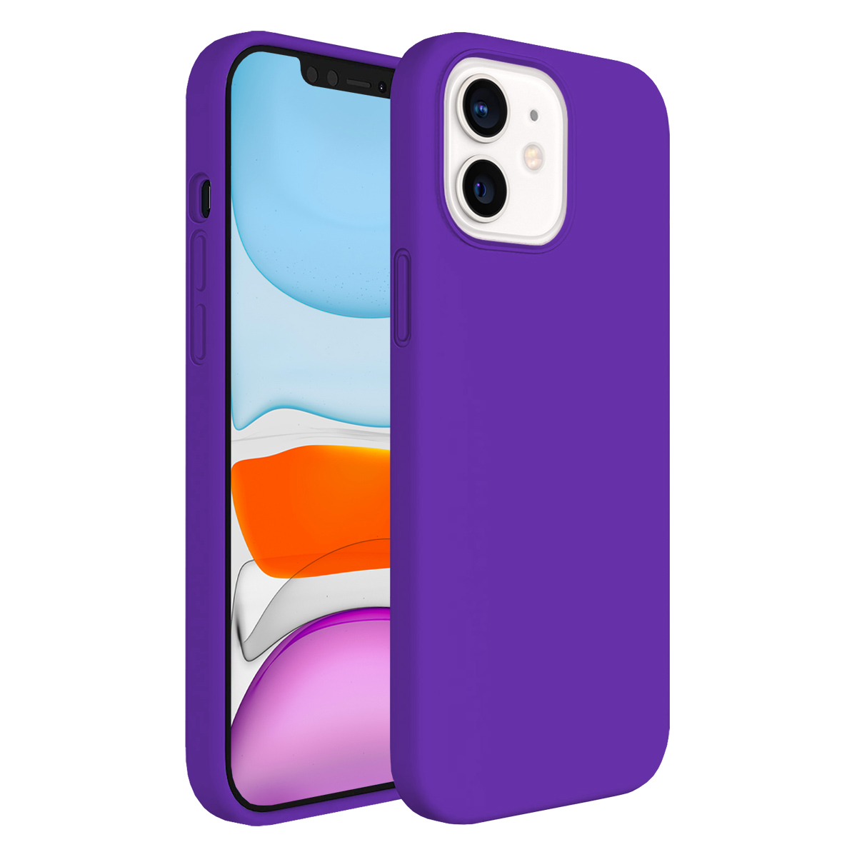 Buff iPhone 11 Rubber S Kılıf Purple
