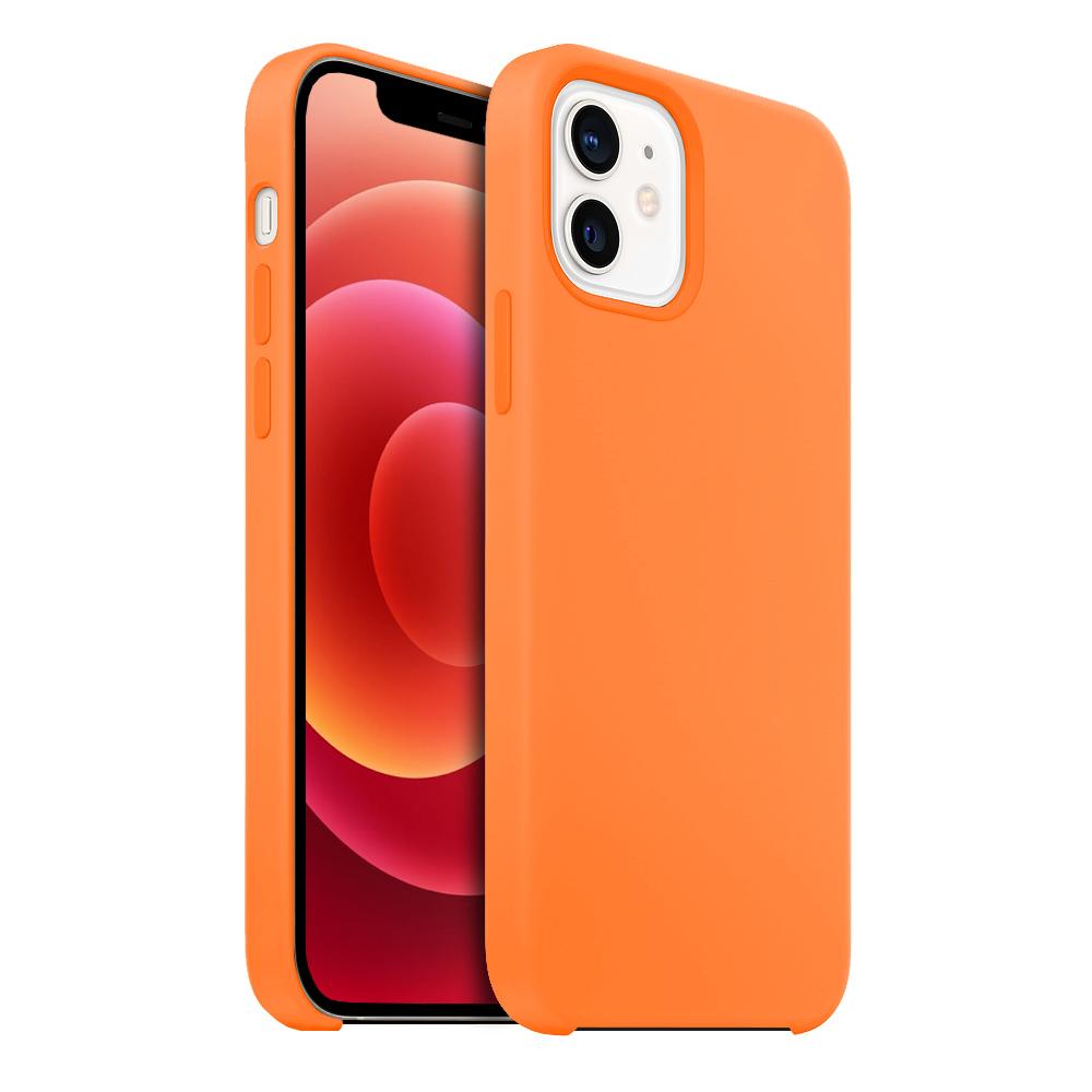 Buff iPhone 12 / 12 Pro Rubber Fit Kılıf Light Orange
