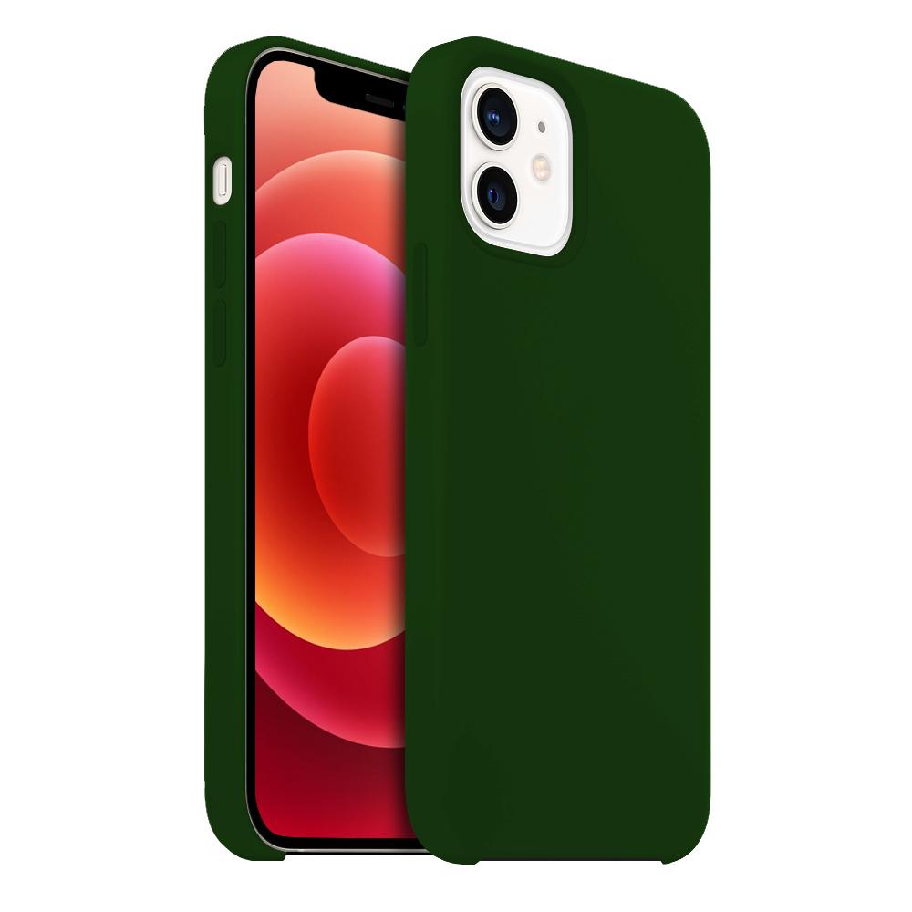 Buff iPhone 12 / 12 Pro Rubber Fit Kılıf Dark Green