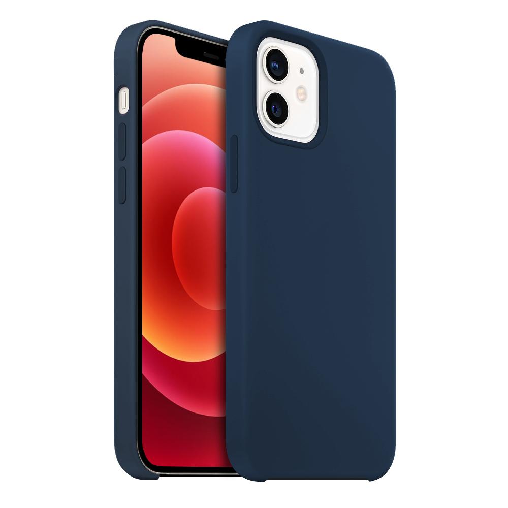 Buff iPhone 12 / 12 Pro Rubber Fit Kılıf Navy Blue