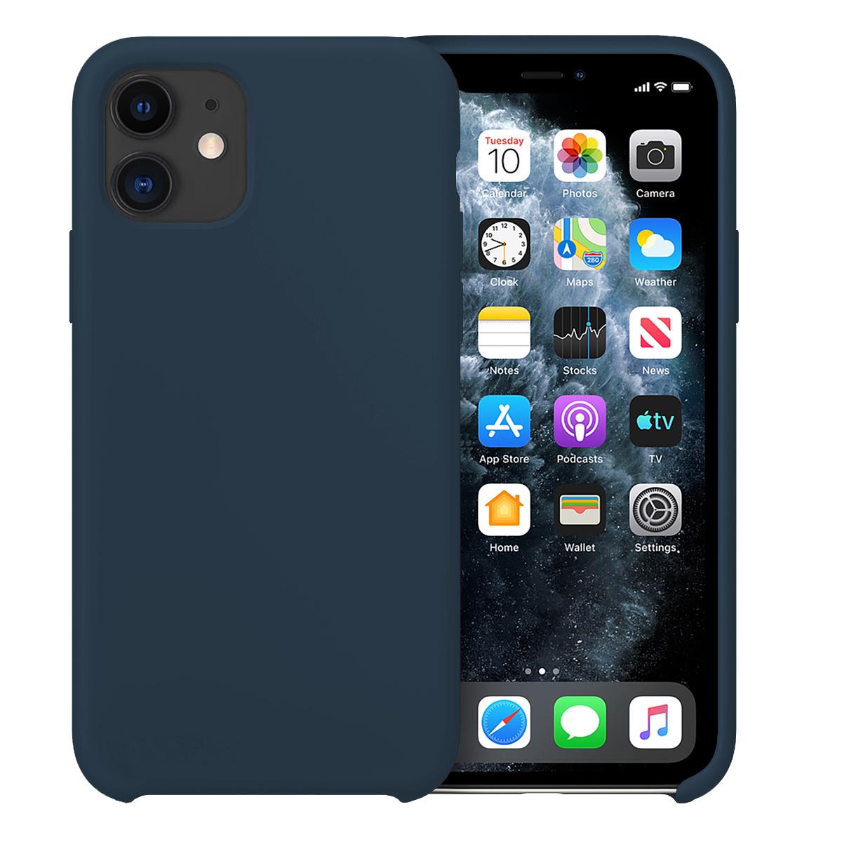 Buff iPhone 11 Rubber Fit Kılıf Navy Blue