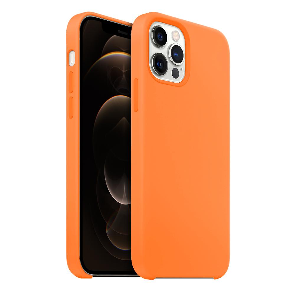 Buff iPhone 12 Pro Max Rubber Fit Kılıf Light Orange