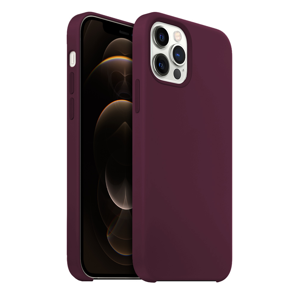 Buff iPhone 12 Pro Max Rubber Fit Kılıf Plum