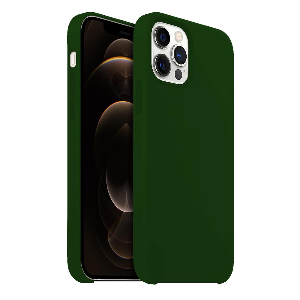 Buff iPhone 12 Pro Max Rubber Fit Kılıf Dark Green