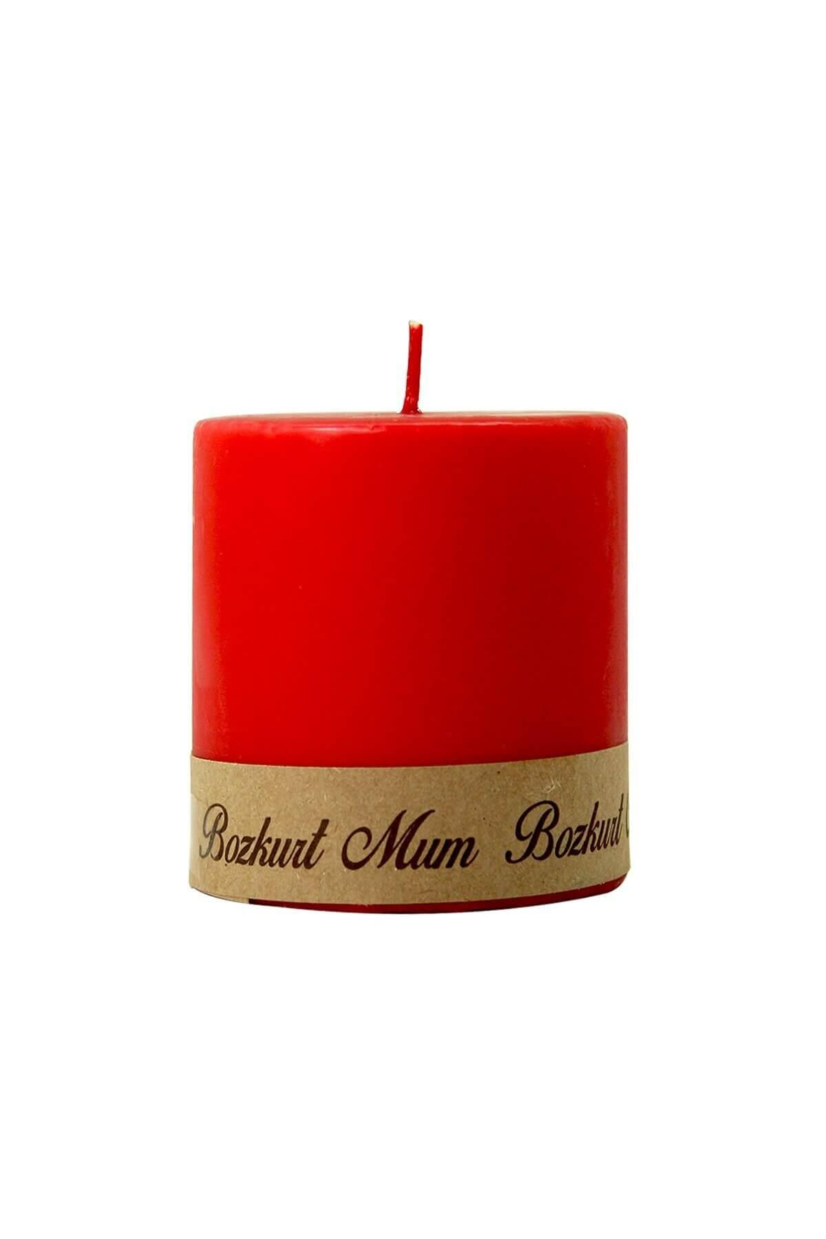 Kırmızı Silindir Mum