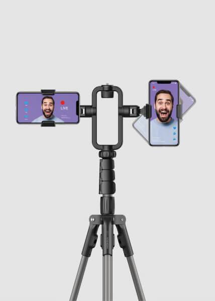 MOMAX Live Stream Vloger Işık ve Telefon Tutucusu