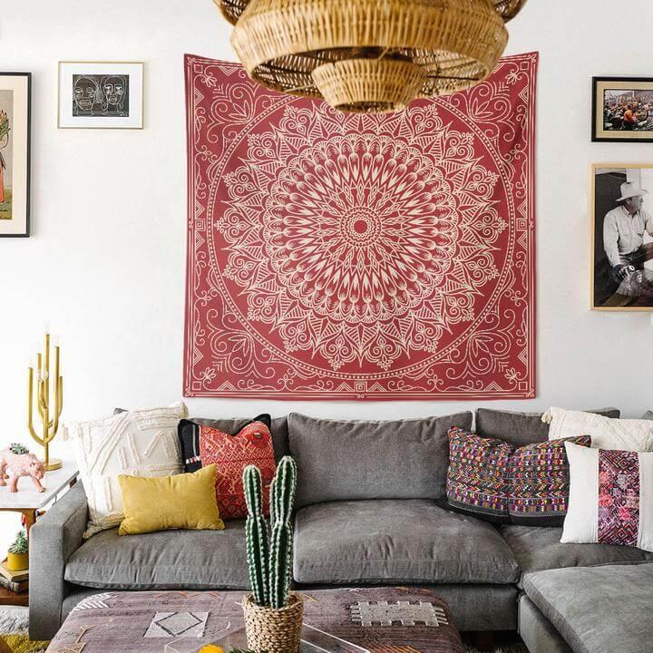 Bohemian Mandala Duvar Örtüsü