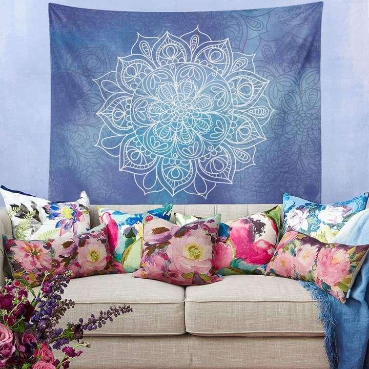 Mandala Flower Duvar Örtüsü