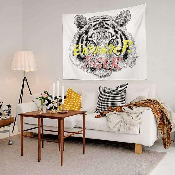 Endanger Tiger Duvar Örtüsü