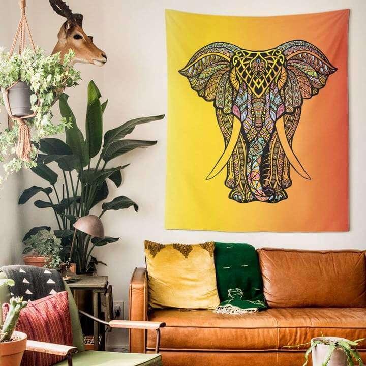 Fancy Elephant Duvar Örtüsü