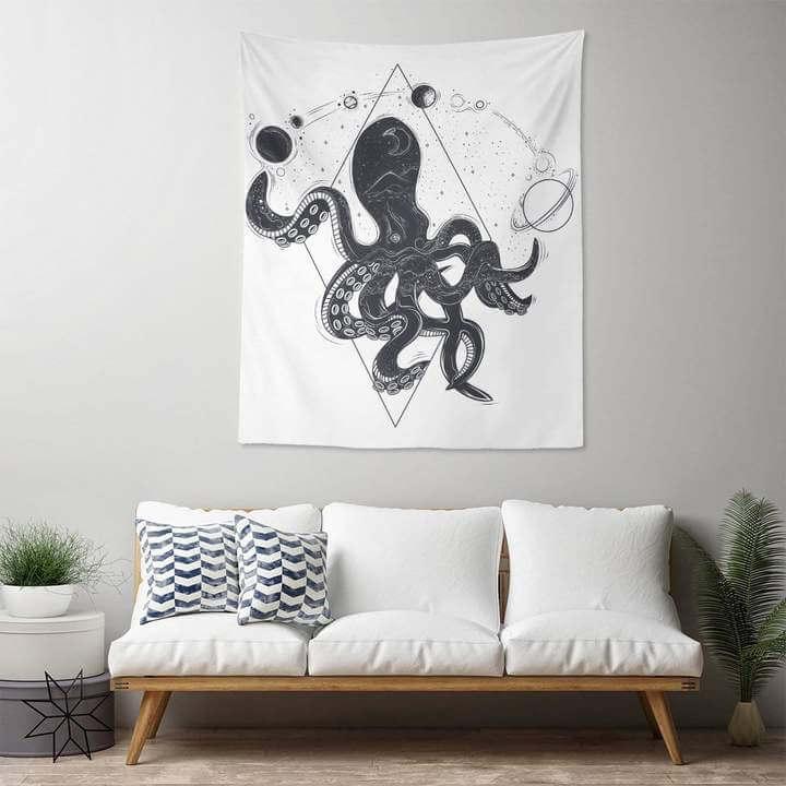 Cosmic Octopus Duvar Örtüsü