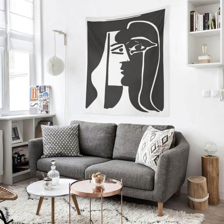 Picasso Kiss Duvar Örtüsü