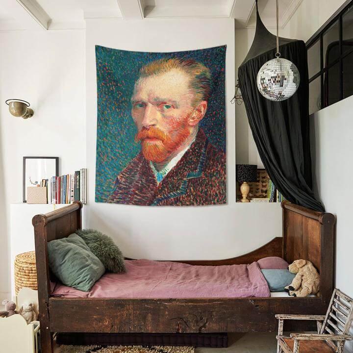 Vincent van Gogh's Self-Portrait Duvar Örtüsü