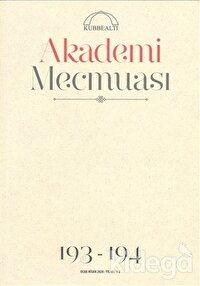 Akademi Mecmuası Sayı: 193-194 Kasım - Aralık 2019