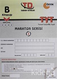 B Kitapçığı 3402 Maraton Serisi TYT Temel Yeterlilik 2. Deneme Sınavı