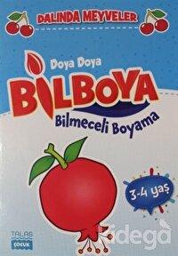 Dalında Meyveler -  Doya Doya Bil Boya Bilmeceli Boyama (3-4 Yaş)