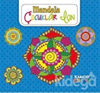 Çocuklar İçin Mandala Mavi