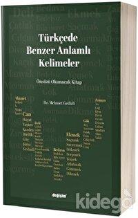 Türkçede Benzer Anlamlı Kelimeler