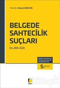 Belgede Sahtecilik Suçları (TCK m. 204-212)